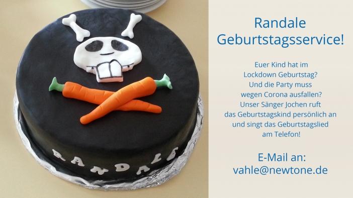 Randaletorte und Jochen singt das Randale Geburtstagslied