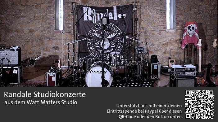 Die Instrumente von Randale auf ihrem online Kindermusik-Konzert im Studio
